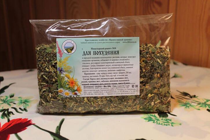 Монастырский чай для похудения - состав и рецепт приготовления